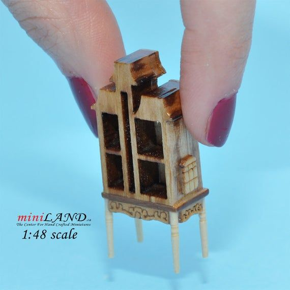 1:48 1/4 quarter scale Victorian dollhouse for dollhouse Top quality unfinished miniature
