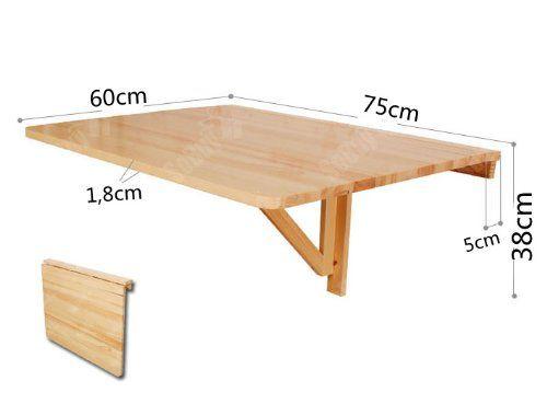 Sobuy Fwt01 W Table Murale Rabattable Table De Cuisine Pliante En