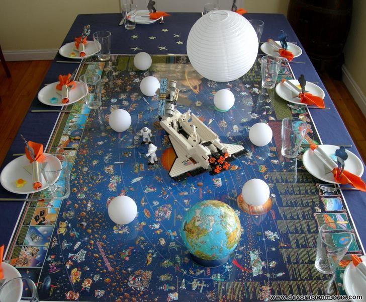 Decoracion de mesas mesa cumplea os de astronautas - Decoracion de mesa de cumpleanos infantil ...