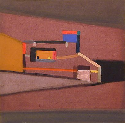 "Merlin James - Exhibitions - Kerlin Gallery Beach House 1995-96 43.5 x 44.25 cm (17.1 x 17.4 "")"