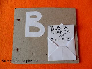 Diy carboard ABC book: letter B