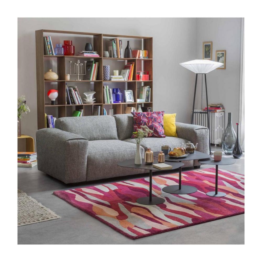 Posada Canape 3 Places En Tissu Bellagio Gris Vert En 2020 Mobilier De Salon Meuble Habitat Deco Maison Interieur