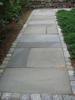 Natural Stone Walkway To Home Entrance Full Color Pattern