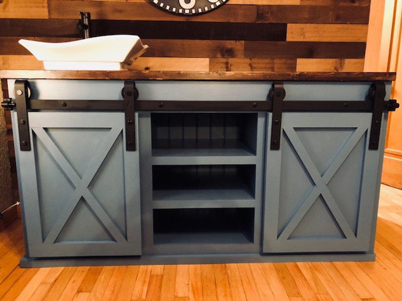Barn Door Bathroom Vanity Free Shipping Etsy Furniture Giveaway Home Interior Barn Doors [ 1191 x 1588 Pixel ]