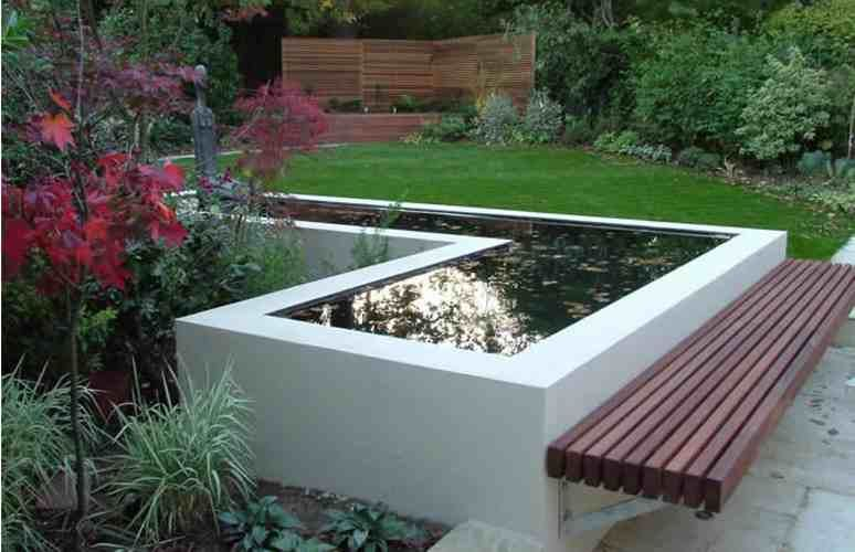 Square raised pond dream gardens pinterest ponds for Square fish pond