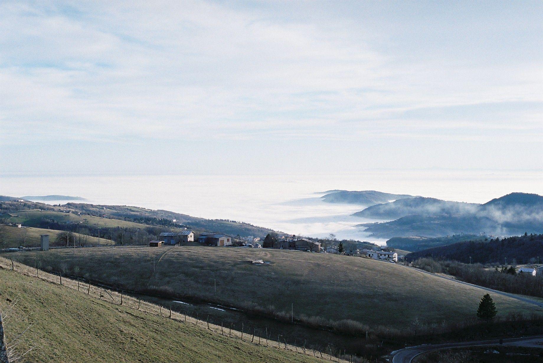 Lessinia - Nebbia sulla pianura