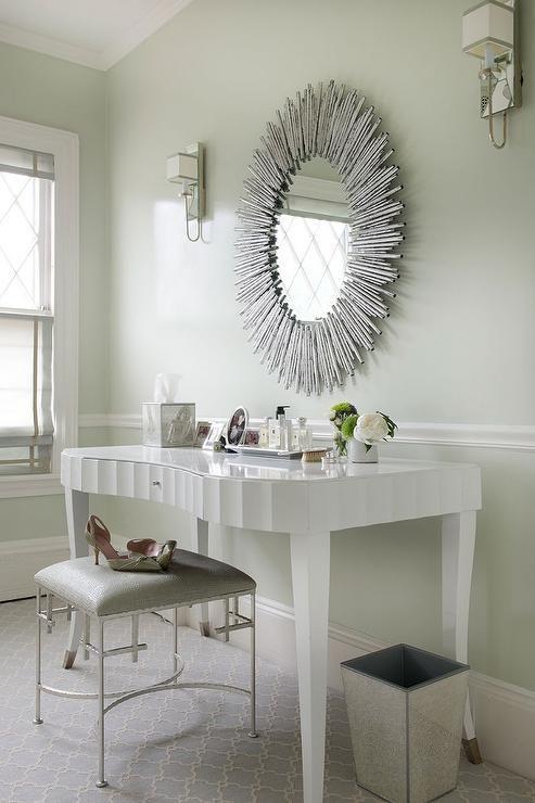 Arteriors prescott oval silver leaf large mirror closets for Prescott mirror