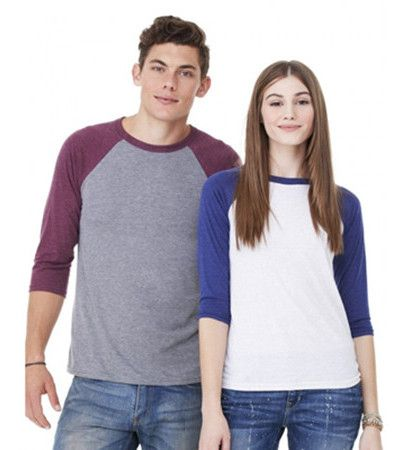 Bella Canvas Unisex Three Quarter Sleeve Baseball Raglan from NYFifth