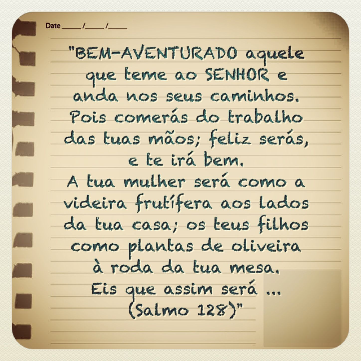 Salmo 128 Pensatas God Jesus Faith E Faith