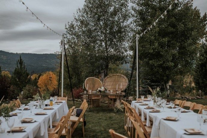 Late Summer Mountain Wedding With Boho And Modern Touches images