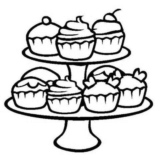 Cupcake Malvorlage