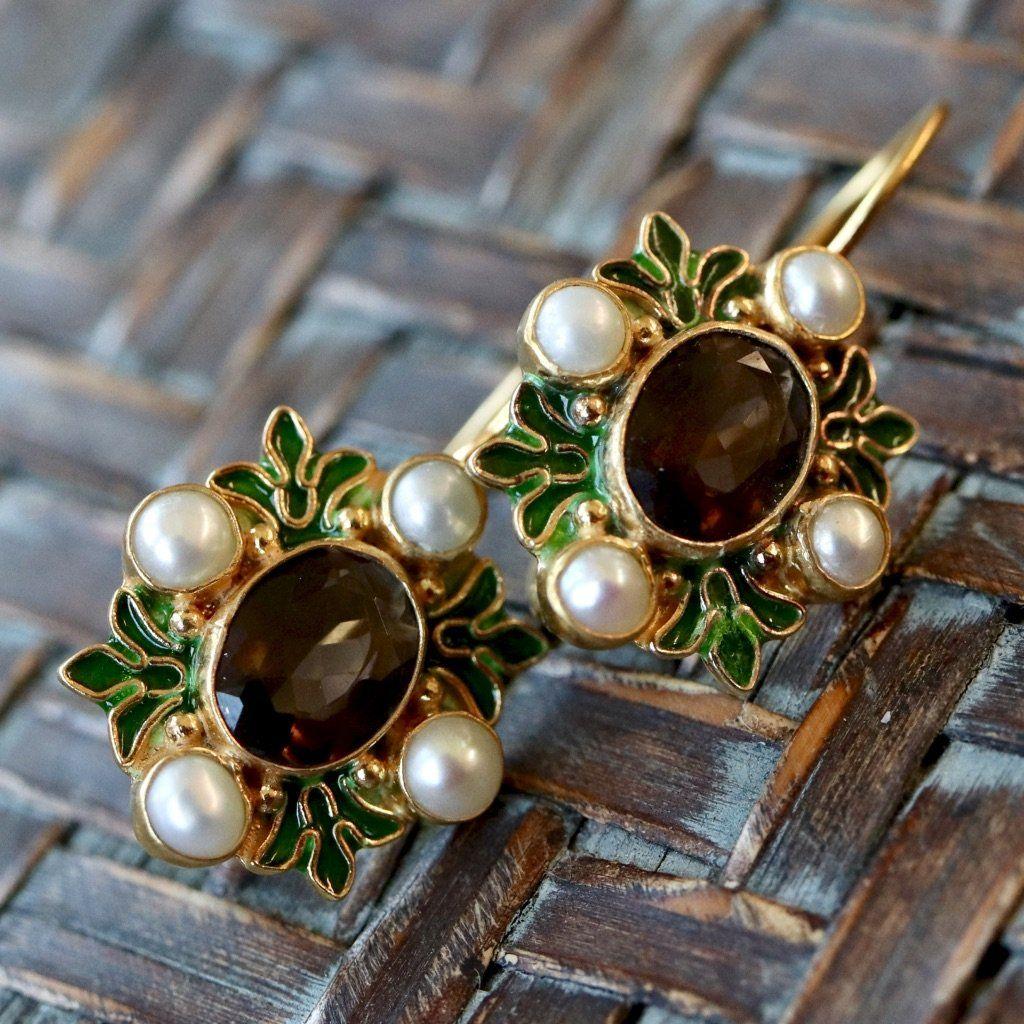 Isabella of Castille Iolite Earrings