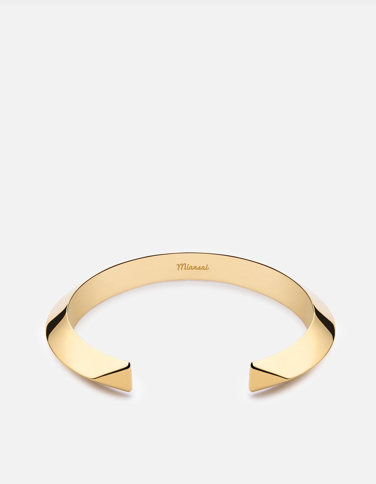 Bell cuff bracelet gold plated womenus cuffs miansai jewels