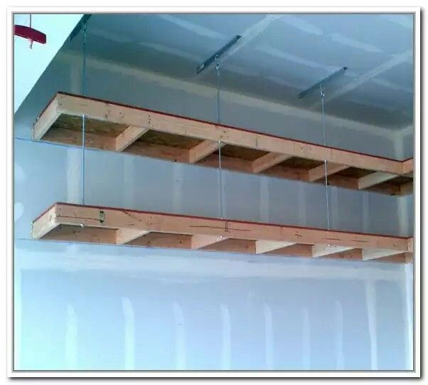 Garage Shelf With Images Diy Overhead Garage Storage Garage Storage Shelves Diy Overhead Garage Storage