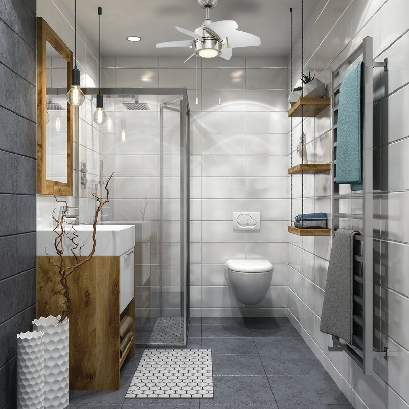 24 Saito 6 Blade Ceiling Fan Bathroom Design Small Modern