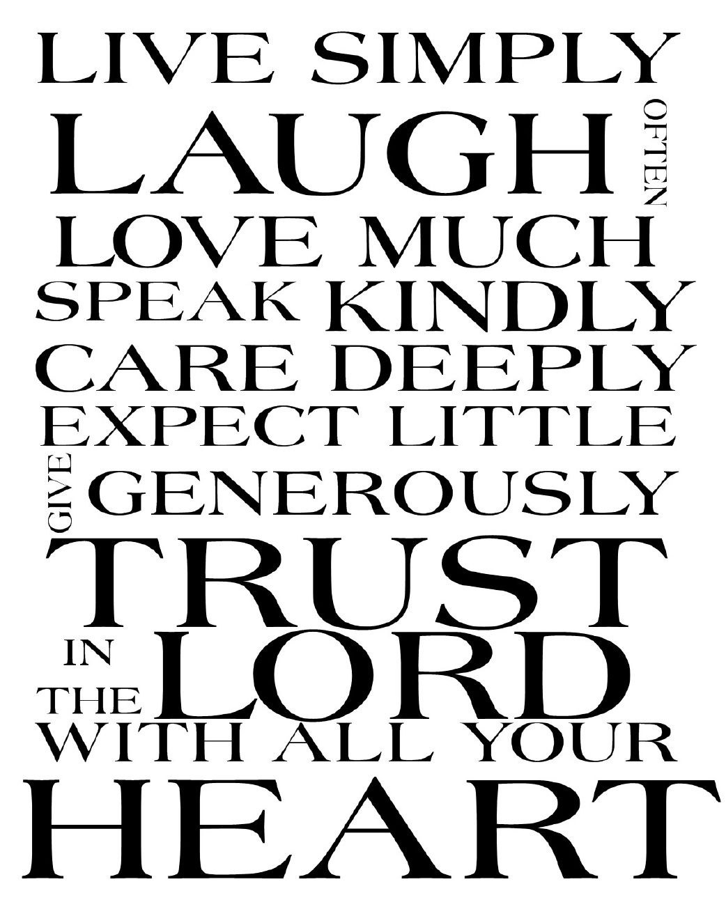 Free Printable Subway Art for you......Trust In The Lord