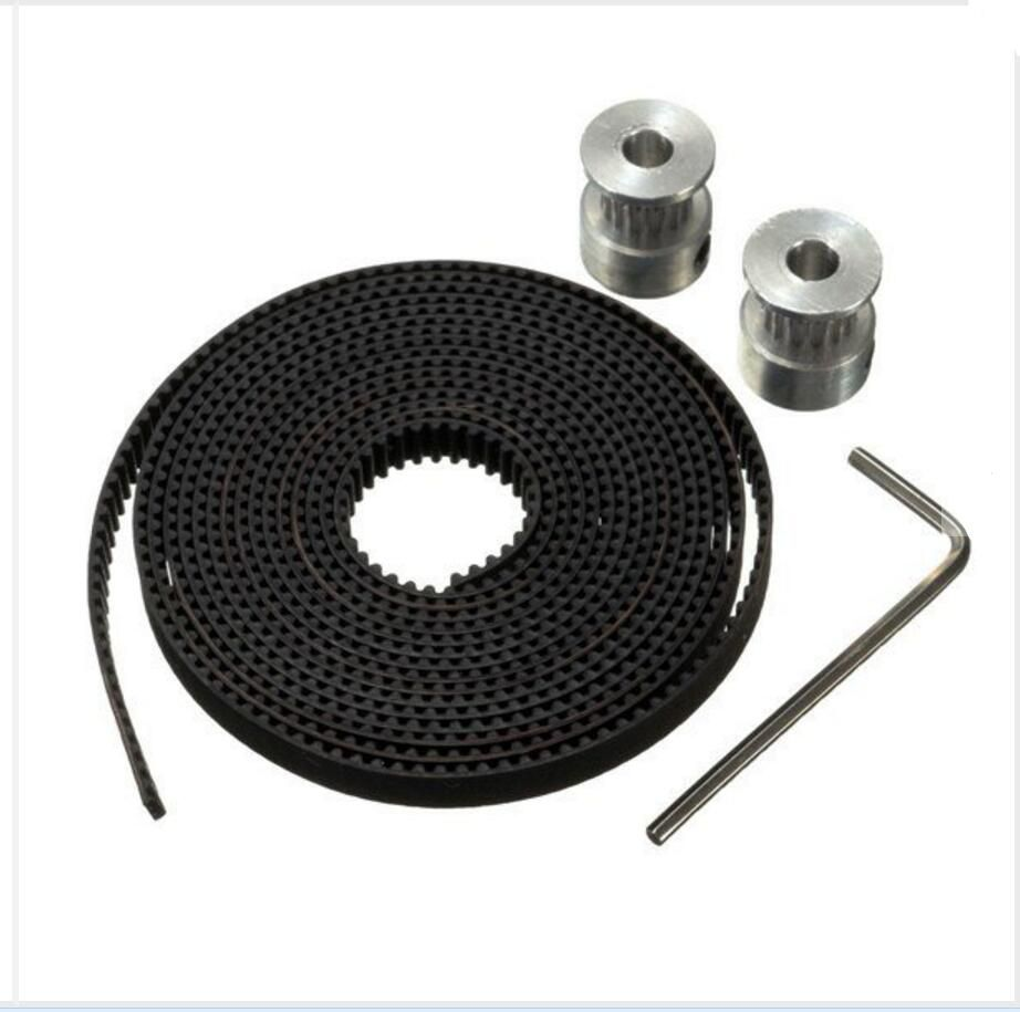 Duoweisi 3d Printer Parts Gt2 Pulley 16 Teeth 5mm Bore 2m Belt For Timing 40 10mm 6mm