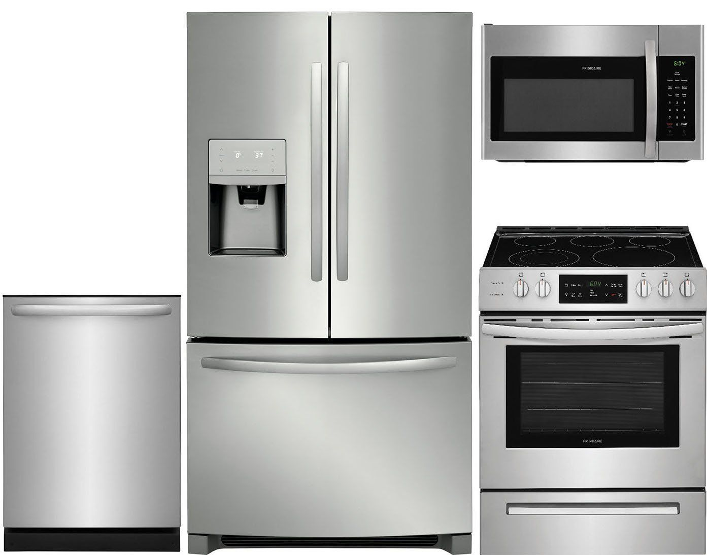 Frigidaire 4 Piece Electric Kitchen Appliance Package with ...