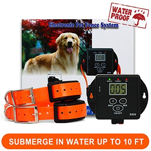Funace Invisible Wired Dog Fence Rechargeable And Waterproof Pet Containment System For 2 Dogs Pet Fence Dog Fence Wireless Dog Fence