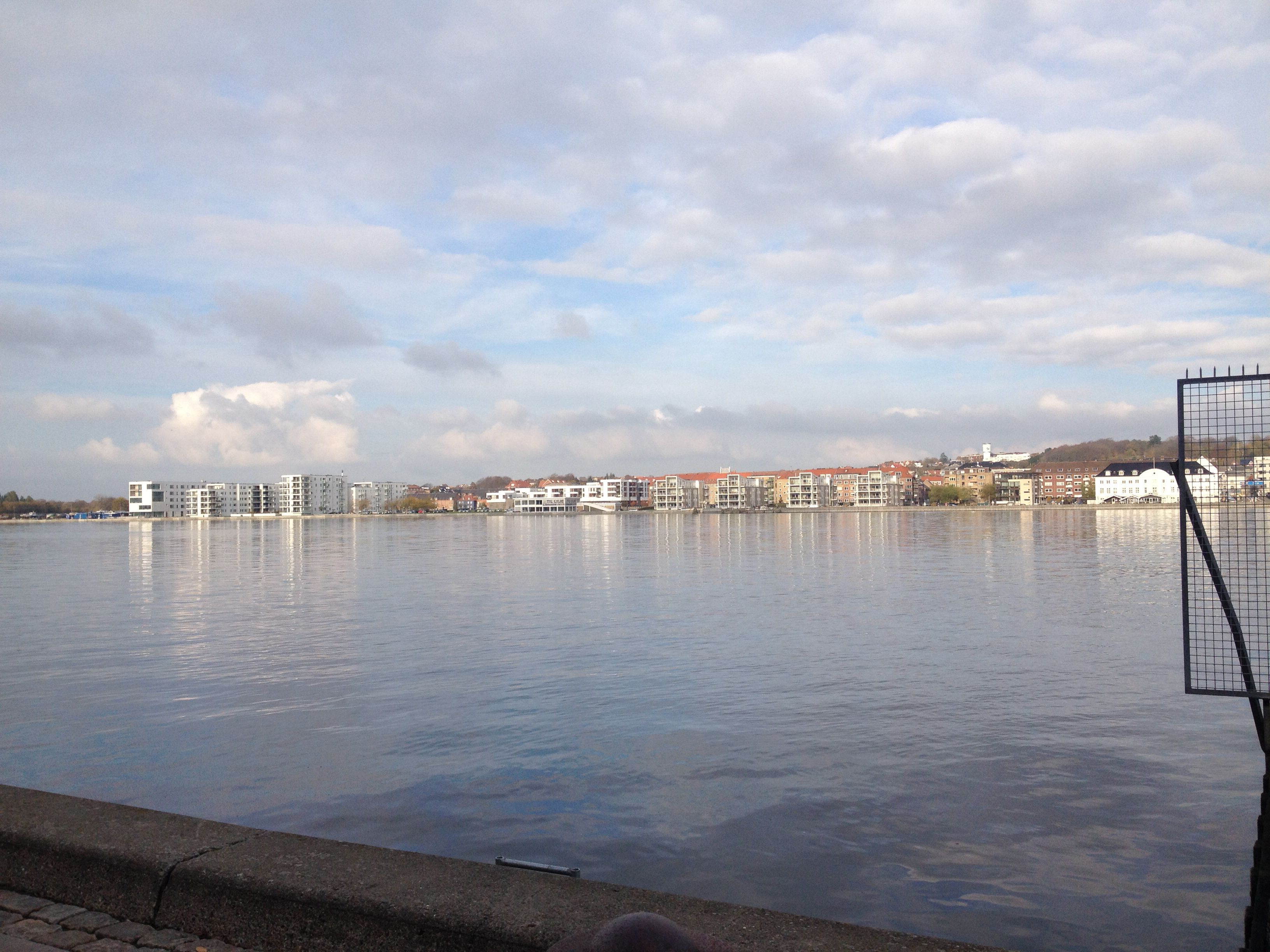 The beautiful water front in Aalborg