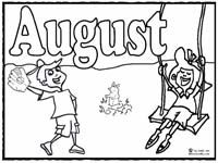Click image to print August coloring page skool Pinterest