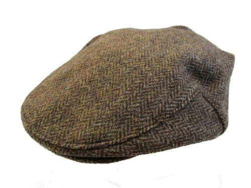 06307efb77146 Amazon.com  John Hanly   Co. Irish Tweed Flat Cap - Brown Herringbone -  Made in Ireland  Clothing