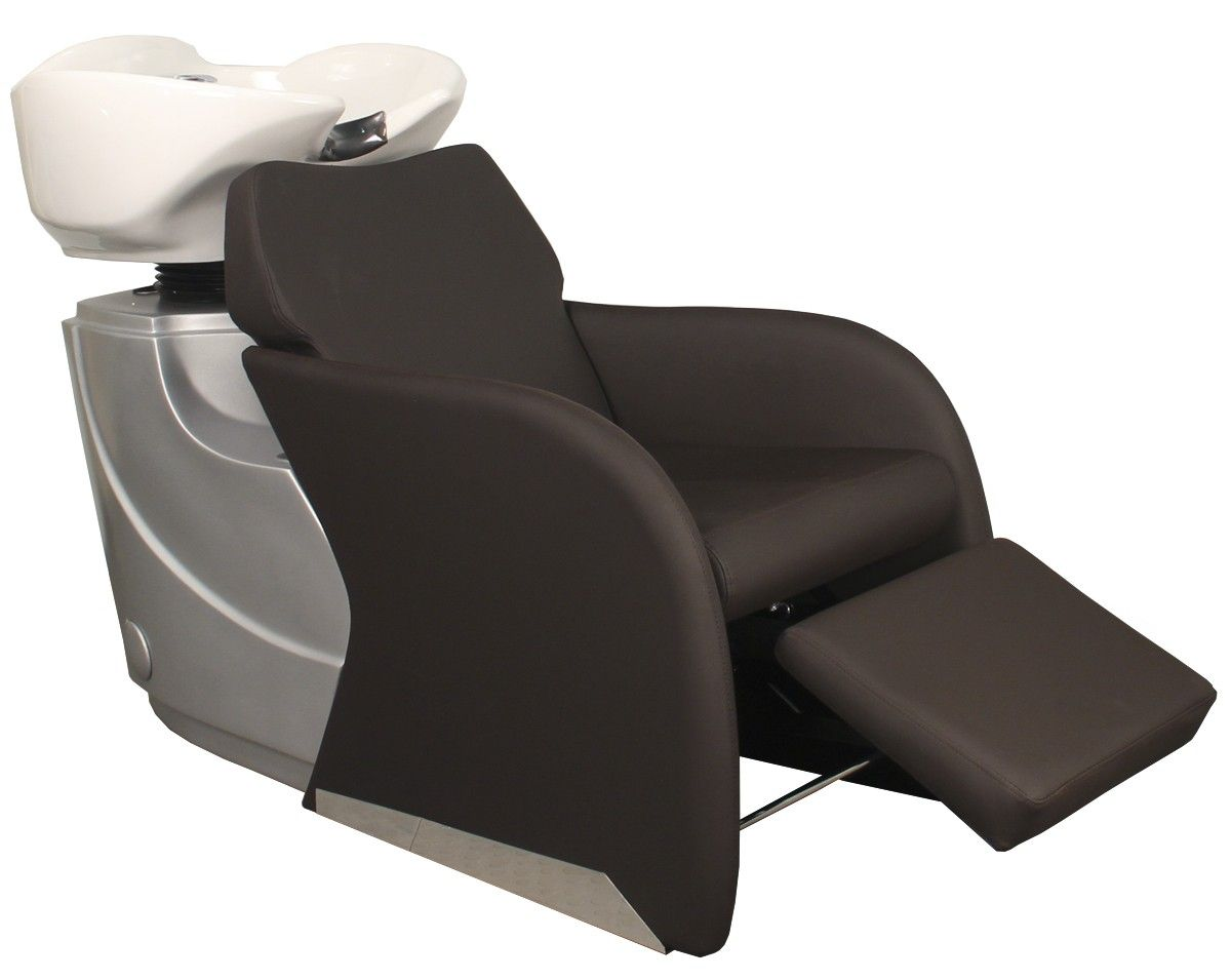Avery backwash shampoo system in bark brown with white