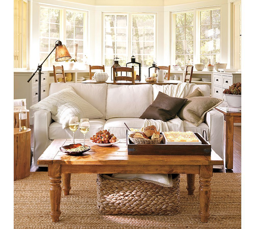 Love the neutral tone decor the natural finished tables and the