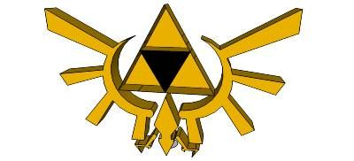 I created this Triforce on GoogleSketchUp