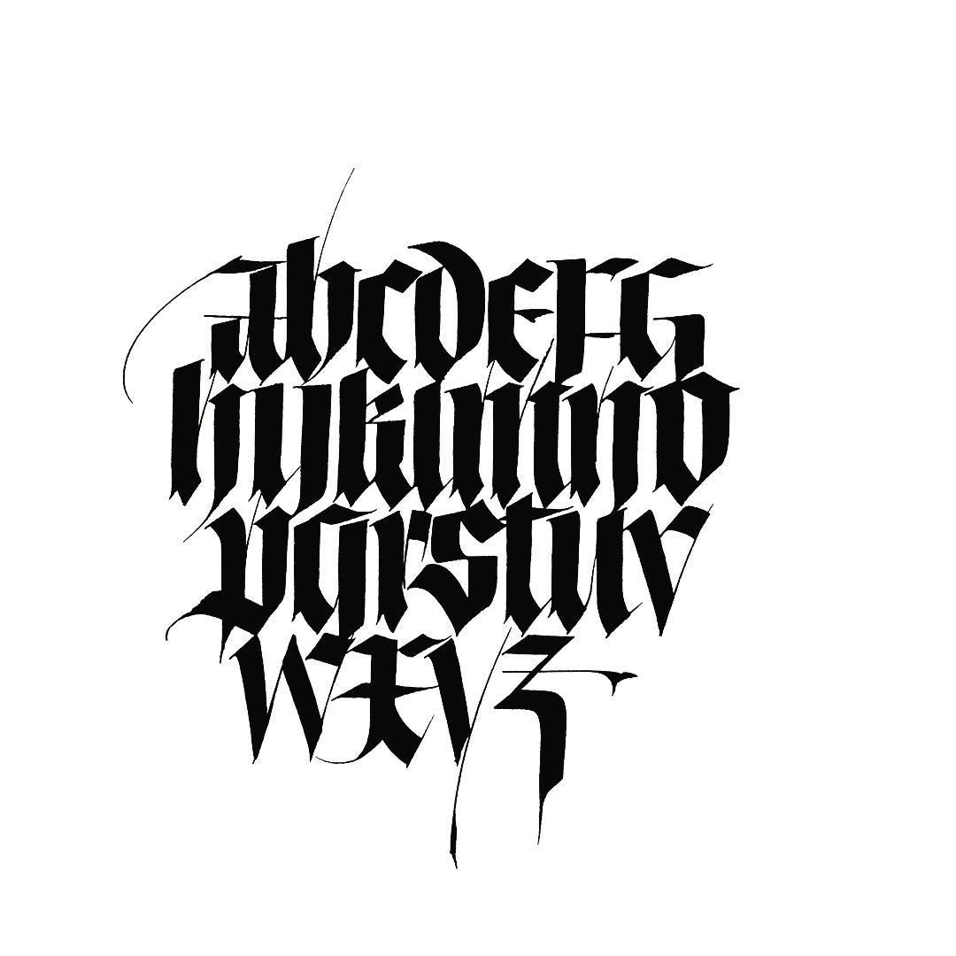 Gothic Lettering Fonts Text Calligraphy Alphabet Typography Letters Font Handlettering Graffiti
