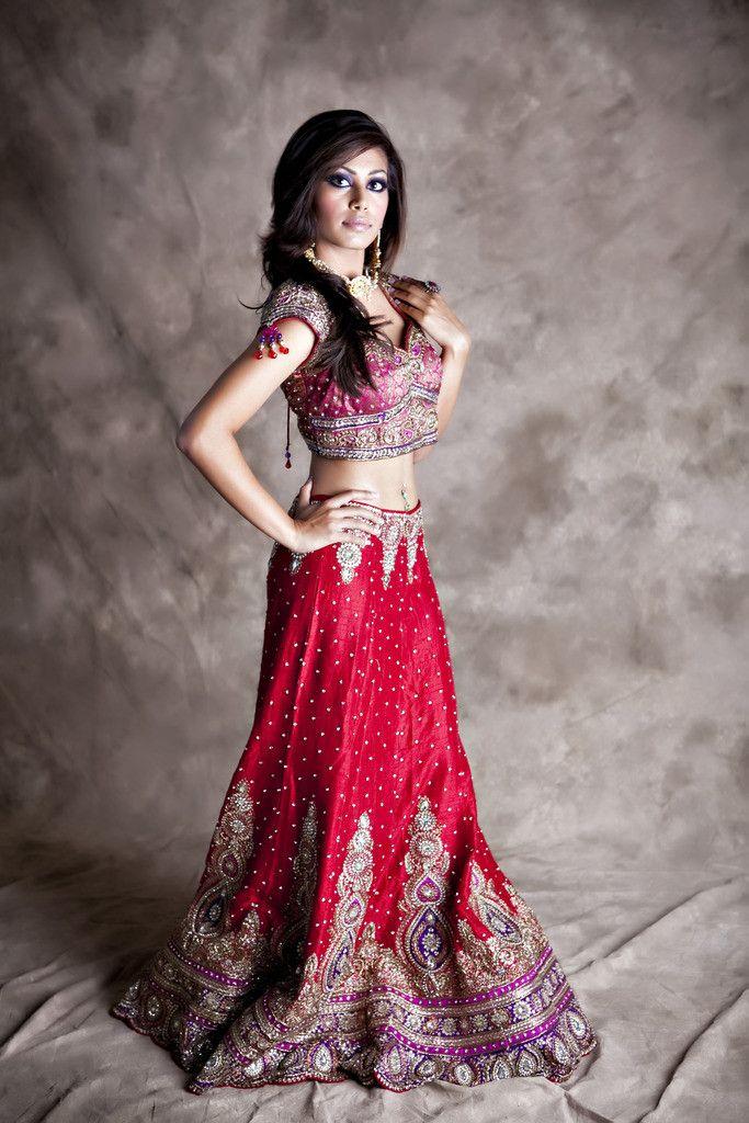 2408353479 Deep Red Purple Silk Lehenga | ~@ Indian Fashion @~ in 2019 | Silk ...