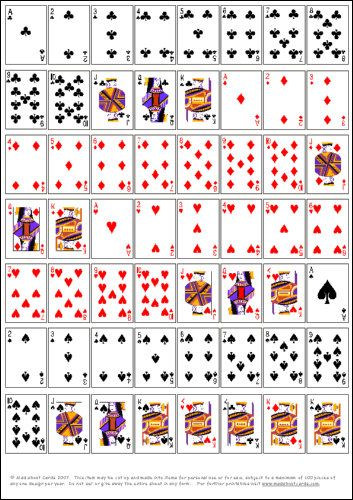 picture relating to Printable Playing Cards identified as Pin via Su Yun Van upon Actively playing card strategies Printable