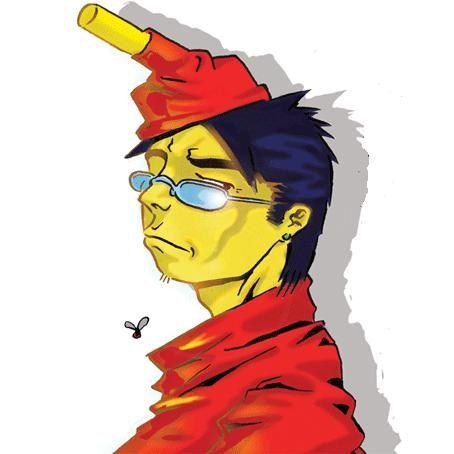 my self.  ink and digital colour.  (c)2007 mario buffardo
