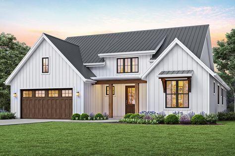 house plan 2559-00815 - modern farmhouse plan: 1,878
