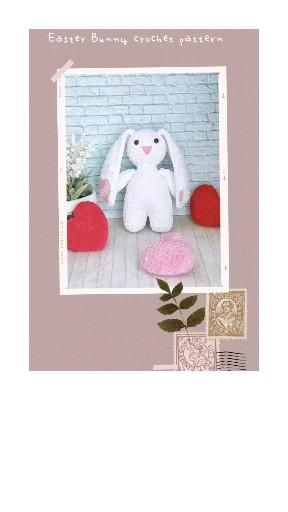 Bunny and heart crochet pattern❤, home decoration.