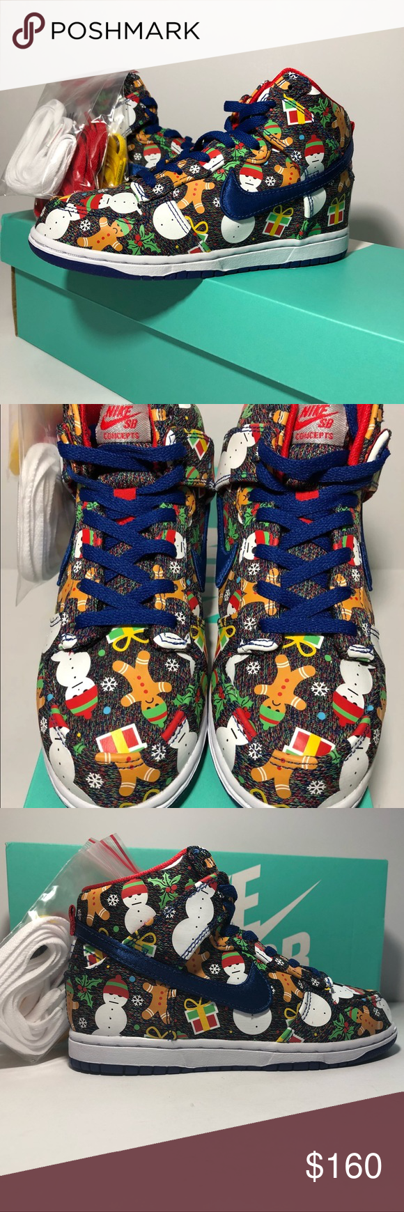 Nike SB Dunk High Concepts Ugly Christmas Sweater | Nike sb dunks ...