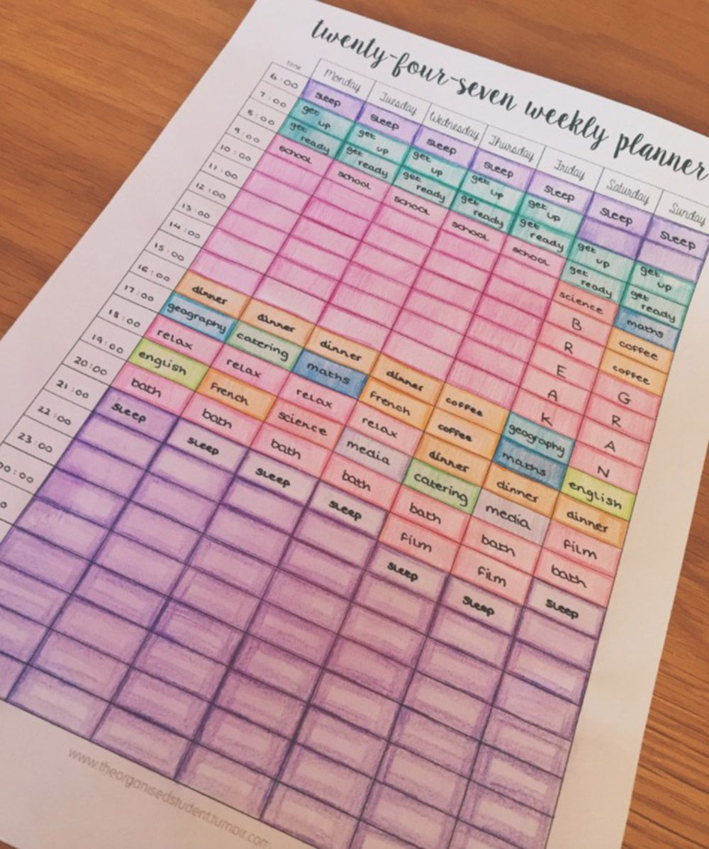 12 revision timetable templates that are pretty and