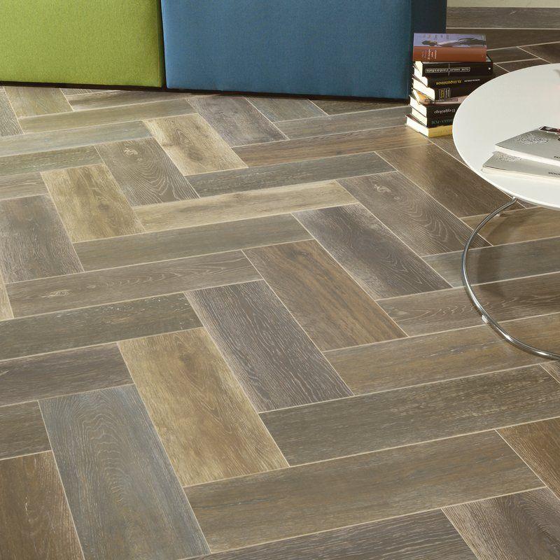 "Alcazar 8"" x 24"" Ceramic Wood Look Tile Wood look tile"