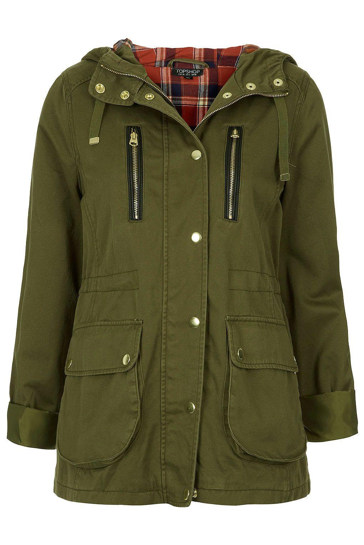 Hooded Lightweight Parka - Jackets & Coats - Clothing - Topshop ...