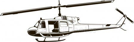Vector graphic drawing of helicopter monogram period of the Vietnam War isola  Source link