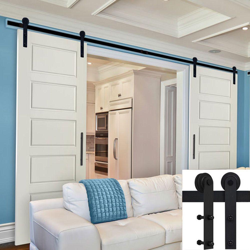 1 5 5m schiebet ren beschl ge set schiebet rsystem schrankt r schiebet rbeschlag m bel. Black Bedroom Furniture Sets. Home Design Ideas
