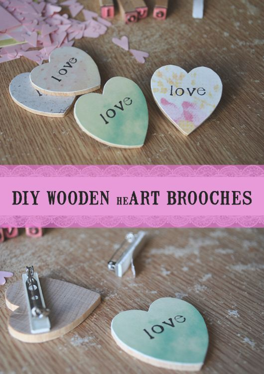 Diy It Wooden Heart Brooches Wooden Hearts Wooden Hearts Crafts Heart Brooch
