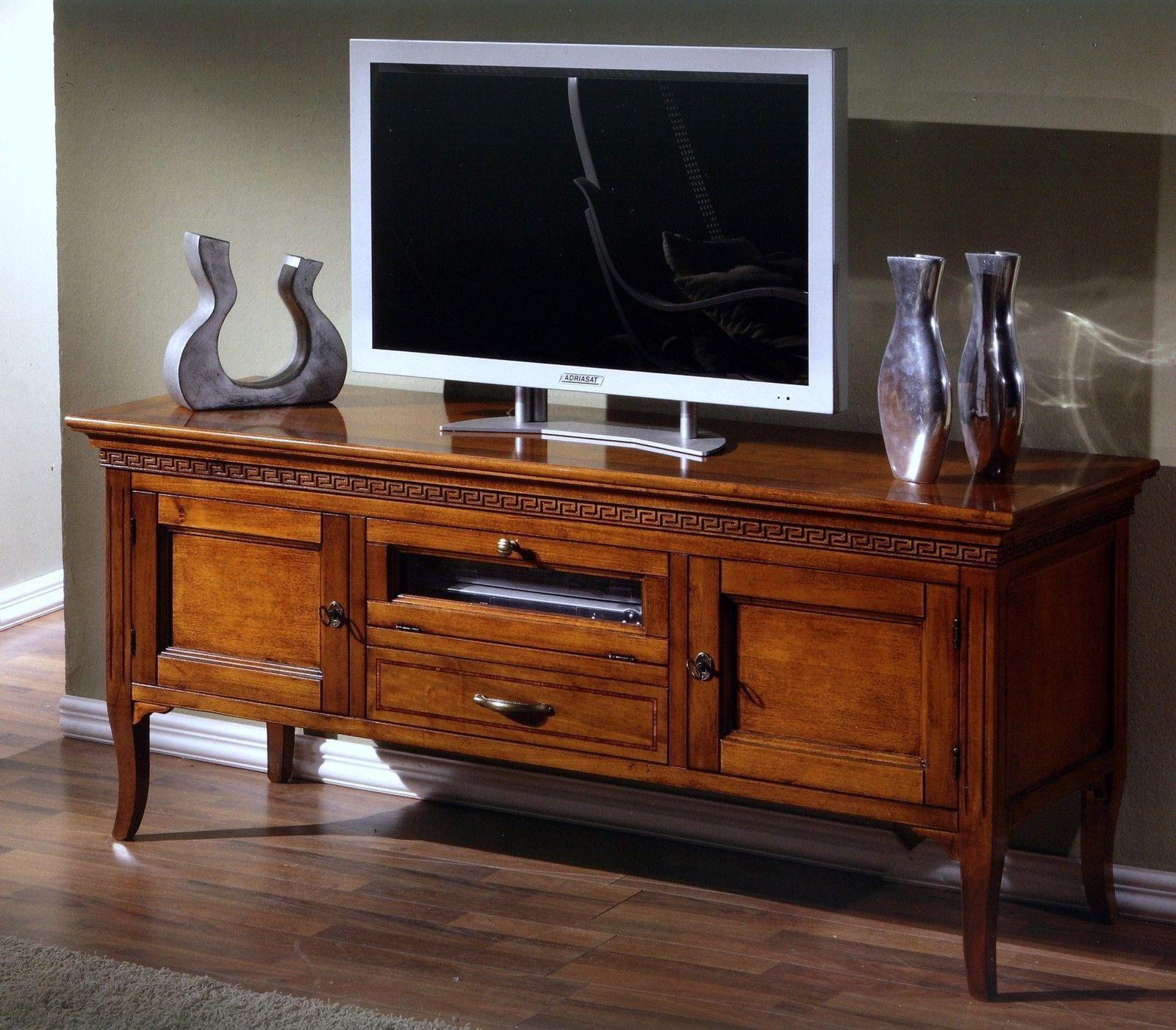 Porta Tv Classico Noce.Dettagli Su Mobile Classico Porta Tv Noce Intagliato 2a 2c X