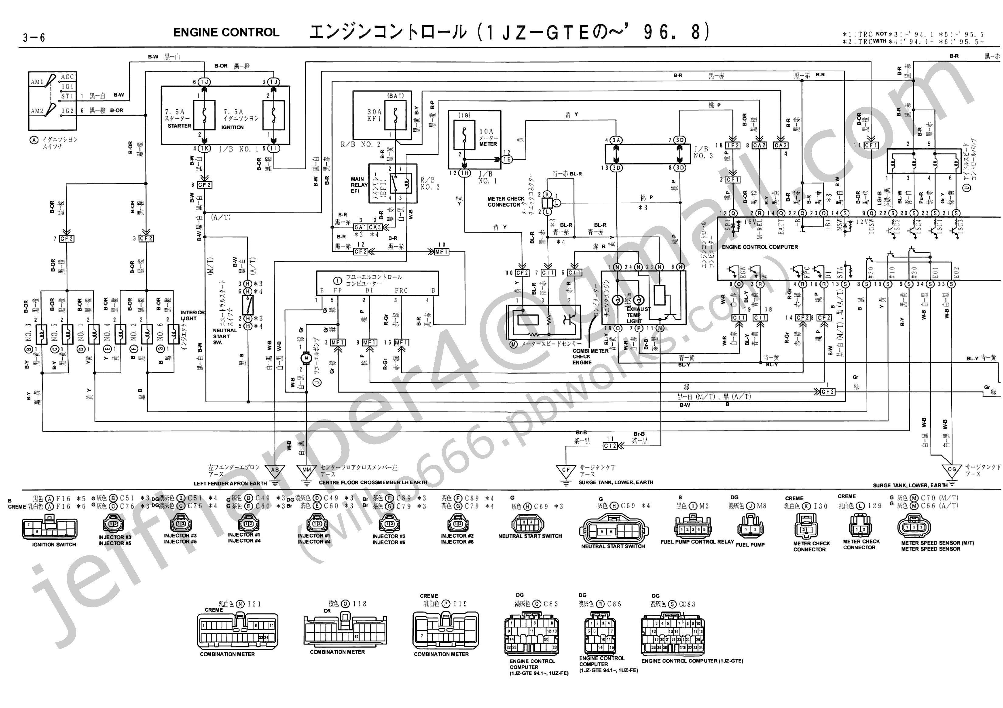 wilbo666 / 1JZ-GTE JZZ30 Soarer Engine Wiring in 2021