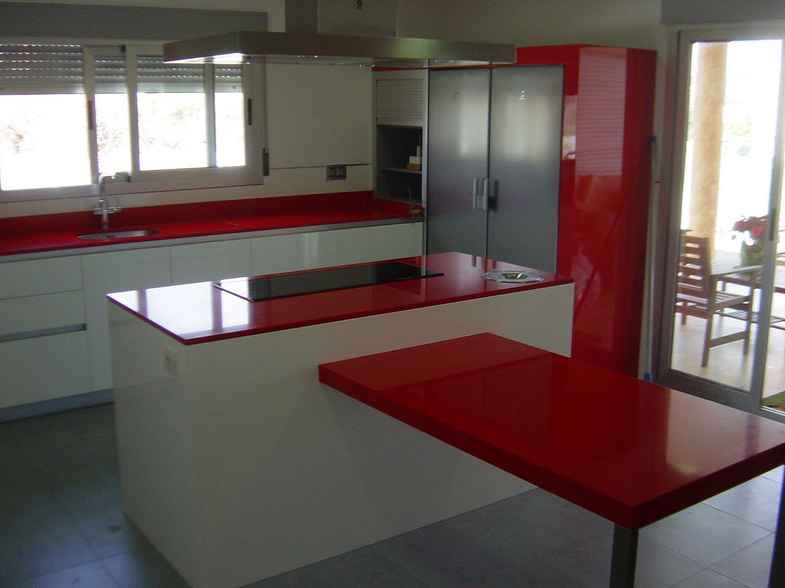 Mosaikstone Marmolistas: Encimera de Silestone Rosso Monza | Cocina ...