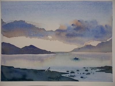 Simple Landscape Watercolor PaintingsLandscape