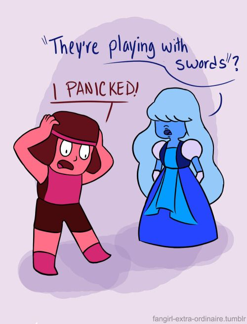 Haha instead of garnet connie and steven it 39 s ruby and - Ruby and sapphire su ...