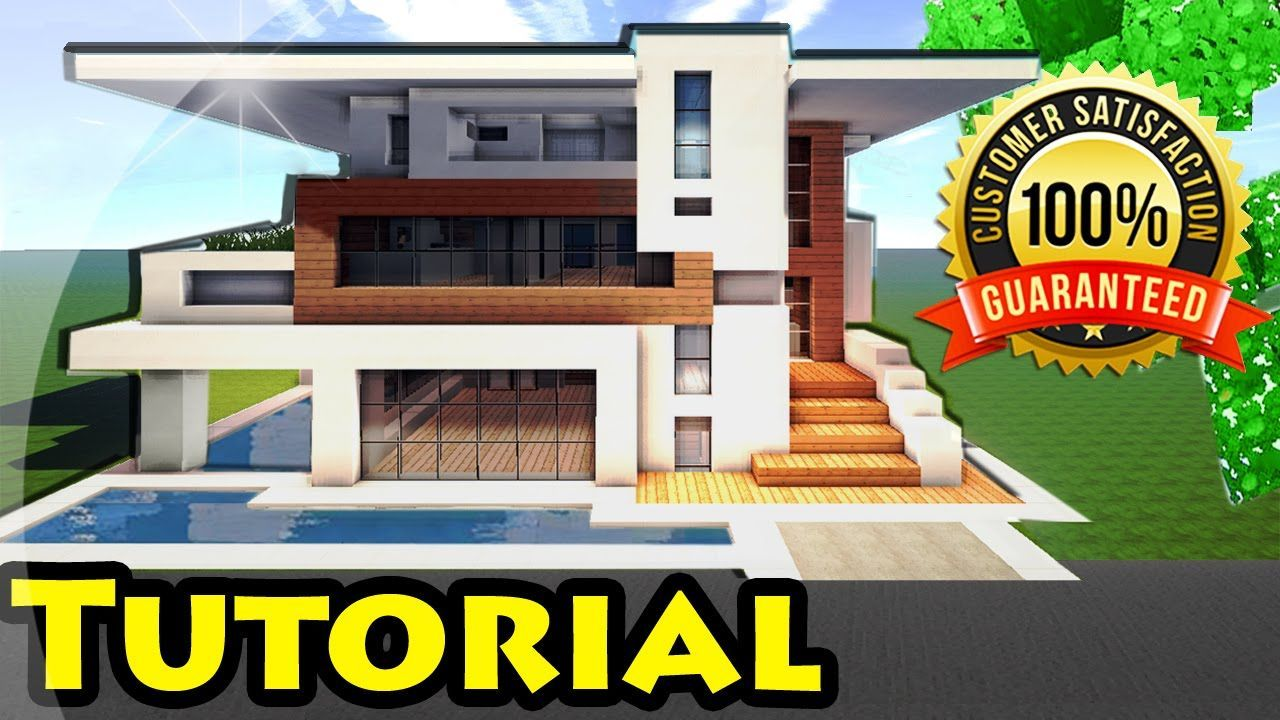 Minecraft Easy Modern House Mansion Tutorial DOWNLOAD - Minecraft grobe hauser download