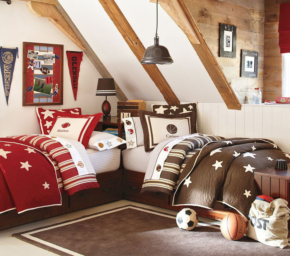 25 Awesome Shared Bedroom Ideas For Kids: I Want These Quilts For Dillon And Connor! I've Been