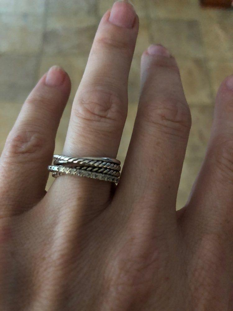 David Yurman Diamond Crisscross Ring Size 6 Comes In David Yurman Pouch David Yurman Ring Rings Rings For Men